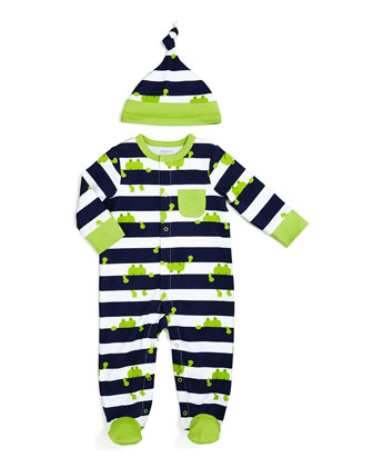 Frog Coverall & Hat Set, NB-12 Months