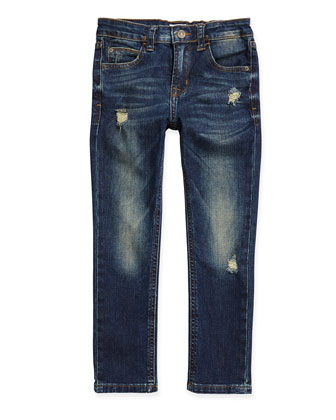 Parker Straight-Leg 5-Pocket Jeans, Pool Blue, Sizes 8-14