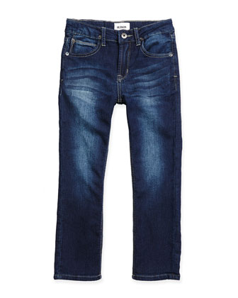 Parker French-Terry Freezer Blue Jeans, Sizes 4-7
