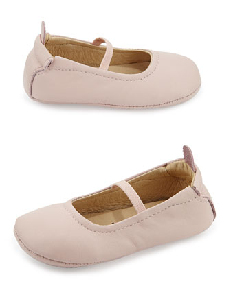 Soft Leather Ballet Flats, Powder Pink, Infant/Toddler