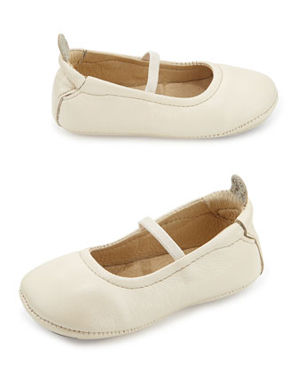 Soft Leather Ballet Flats, Pearl Metallic, Infant/Toddler