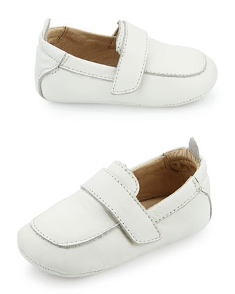 Soft Leather Loafer, White, Infant/Toddler