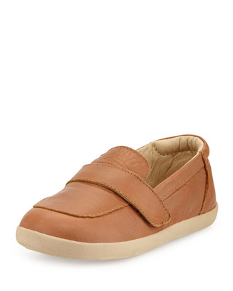 Soft Leather Loafer, Tan, Youth