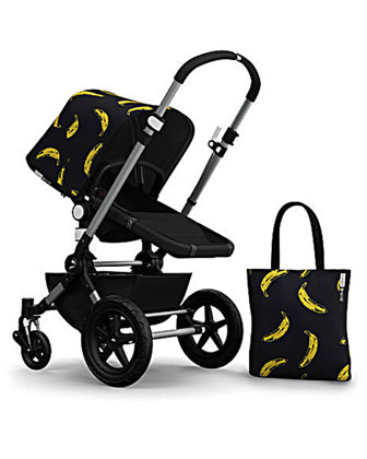 Andy Warhol Cameleon 3 Tailored Fabric Set, Banana/Black