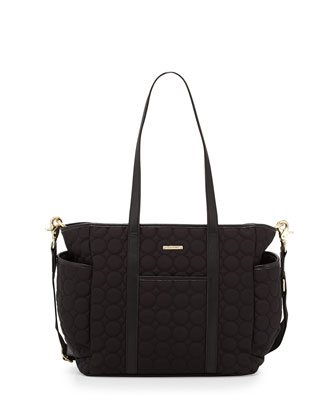 Marissa Quilted Diaper Bag, Black