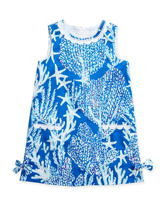 Little Lilly Classic Shift Dress, Brewster Blue, Sizes 2-10