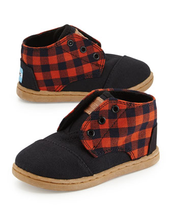 Paseo-Mid Flannel High-Top Sneaker, Tiny
