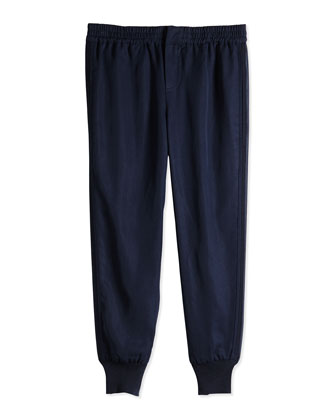 Tencel?? Jog Pant, Navy, Sizes 4-6X