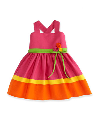 Bright Bouquet Colorblock Dress, Sizes 2-6X