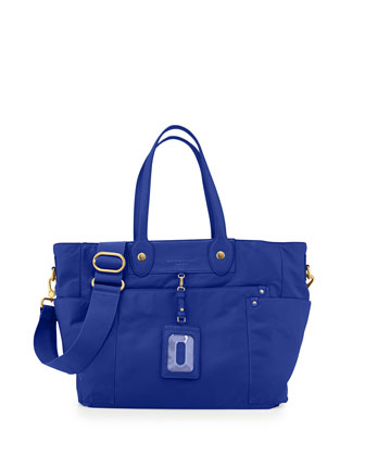 Preppy Nylon Eliz-A-Baby Diaper Bag, Mineral Blue