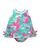Baby Lilly Shift Dress, Capri Pink, 3-24 Months