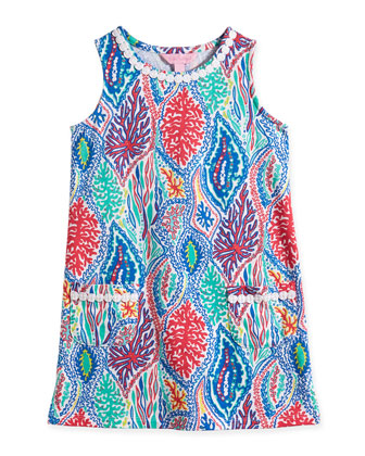 Little Lilly Let Minnow-Print Knit Shift Dress, Multicolor, Size XS-XL