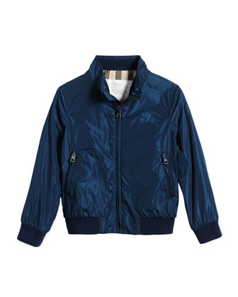 Lightweight Zip-Front Jacket, Teal, Size 4-14