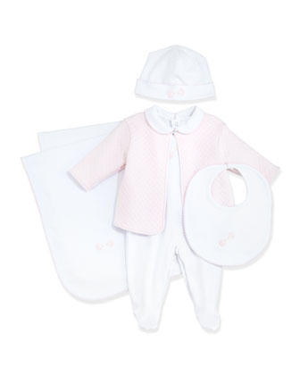 Baby Rattle Footie Pajama & Jacket Set, Baby Hat, Bib & Blanket, ...