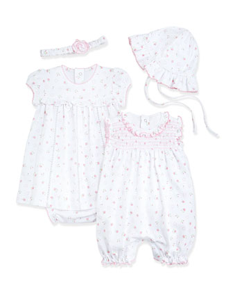 Sweetheart Roses Playsuit, Dress, Headband & Sun Hat, Pink