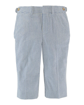 Woodsman Striped Seersucker Pants, Blue/Cream, Size 2-7