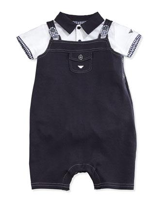 Playsuit & Overalls 2-Piece Gift Set, Indigo, Size 1-12 Months