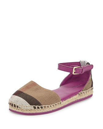 Infant Check Espadrille, Magenta, Girls' Sizes 7.5-9.5