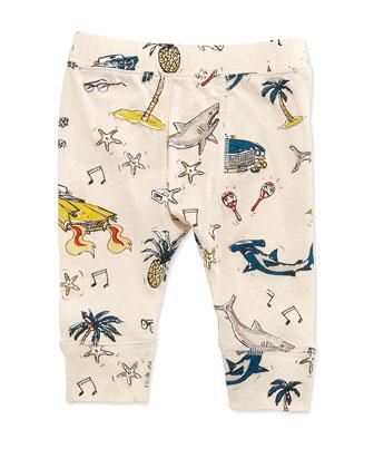 Sharks & Cars Jersey Tee & Pants, White