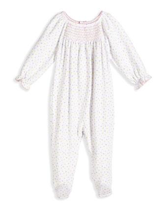Summer Fun Polka Dot Footie Pajamas, Pink, Size NB-9 Months