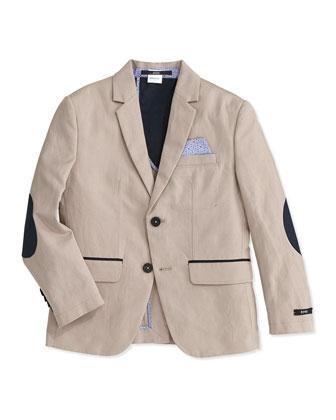 Boys' Linen-Blend Sportcoat and Dress Pants, Size 4-10