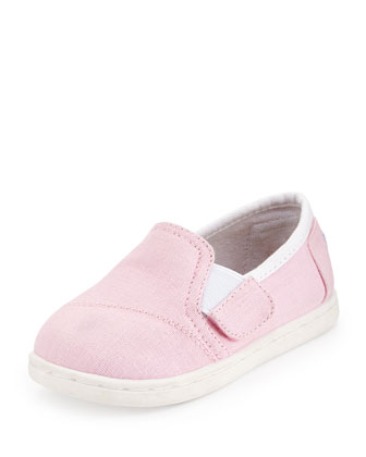 Avalon Canvas Sneaker, Pink, Tiny