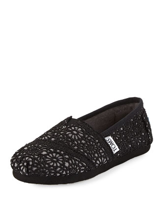 Crochet Classics Slip-On, Black, Youth