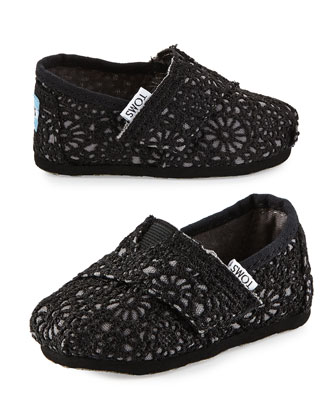 Crochet Classic Slip-On, Black, Tiny