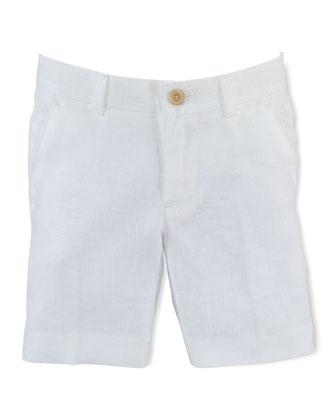 Long-Sleeve Knit Cardigan, Blake Gingham Poplin Shirt & Chevron-Knit Linen ...