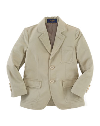 Three-Button Sport Coat, Blake Striped Oxford Shirt & Chevron-Knit Linen ...