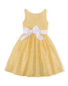Gingham Seersucker Dress, Yellow/White, Size 2T-6X