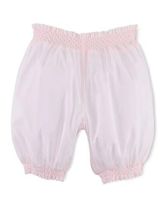 Cotton Voile Bubble Shorts, Pink, Size 9-24 Months