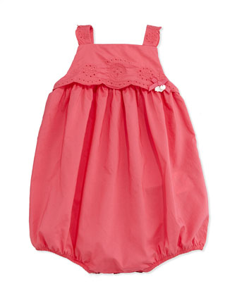 Watermelon Eyelet Bubble Playsuit, Fuchsia, 3-18 Months
