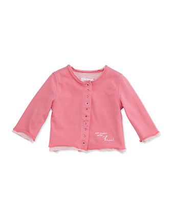 Rhinestone Double-Layer Cardigan, Pink, Size 2-18M