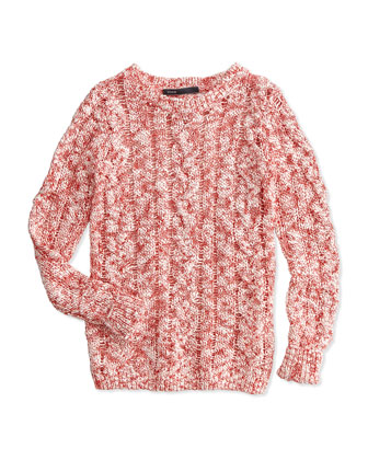 Cable Open-Knit Sweater, Nectar, Size S-XL