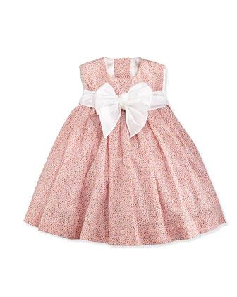 Floral-Print Lawn Dress, Pink, Size 2-6X