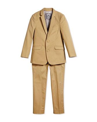 Boys' Two-Piece Mod Suit, Desert, Size 2T-14