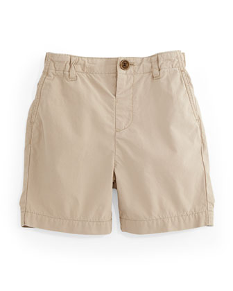 Cotton Military Chino Shorts, Honey, 3M-3Y