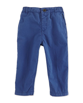 Cotton Chino Military Pants, Canvas Blue, Size 3M-3Y