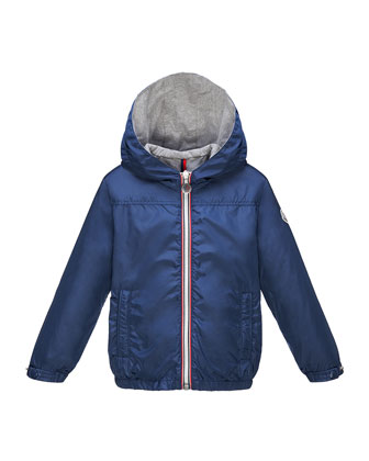 Urville Jersey-Lined Hooded Jacket, Size 2-6