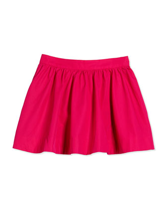 coreen cotton-faille circle skirt, sweetheart pink, size 2-6