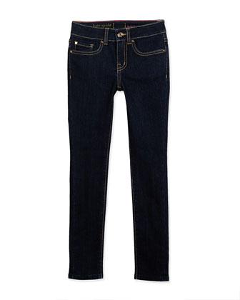 ponte peplum blouse & broome skinny jeans