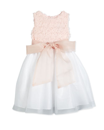 Sleeveless Combo Dress, Pink/Shell, Size 12-24 Months