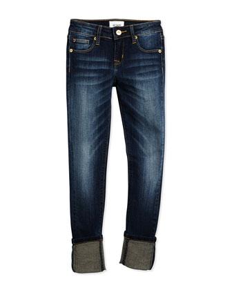 Ginny Crop Skinny Jeans, Iron Wash, Size 7-16