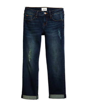 Boyfriend Distressed Jeans, Orion, Size 7-16
