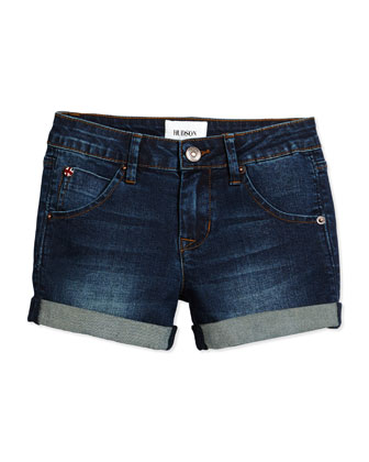 Rolled-Cuff Shorts, Rivington, Size 4-6X