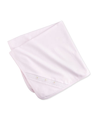CLB Summer Embroidered Pima Blanket, Pink