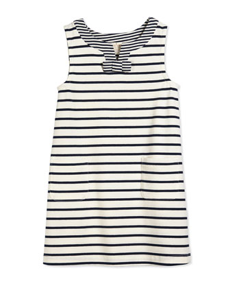 tropez striped shift dress, cream/navy, size 2-6