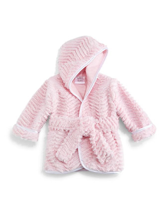Ziggy Long-Sleeve Plush Robe, Pink, Infant