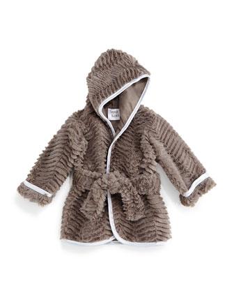 Ziggy Long-Sleeve Plush Robe, Slate, Infant